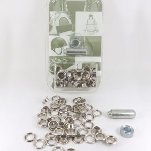 8.0 mm Eyelet and Washer Brass Nickel Plated Repair Kit