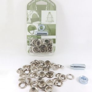 9.5 mm Eyelet and Washer Brass Nickel Plated Repair Kit
