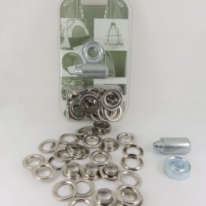 12.7 mm Eyelet and Washer Brass Nickel Plated Repair Kit