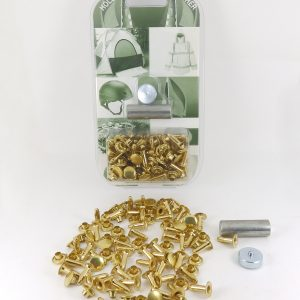 10.5 mm Caps & 14 mm Backs Rivet Brass