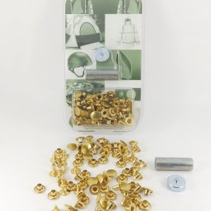 10.5 mm Caps & 8 mm Backs Rivet Brass