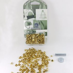 7 mm Caps & 5 mm Backs Rivet Kit Brass