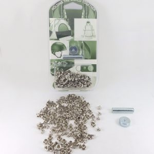 7 mm Caps & 5 mm Backs Rivet Kit Brass Nickel Plated