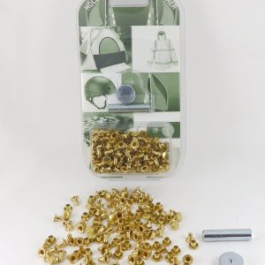 7 mm Caps & 8 mm Backs Rivet Kit Brass