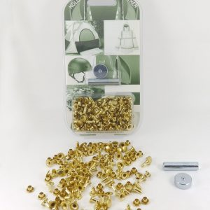 7 mm Caps & 9 mm Backs Rivet Kit Brass