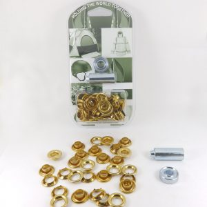 8.3 mm Grommet Eyelet and Spur Tooth Washer Brass Repair Kit