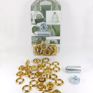 9.5 mm Grommet Eyelet and Spur Tooth Washer Brass Repair Kit